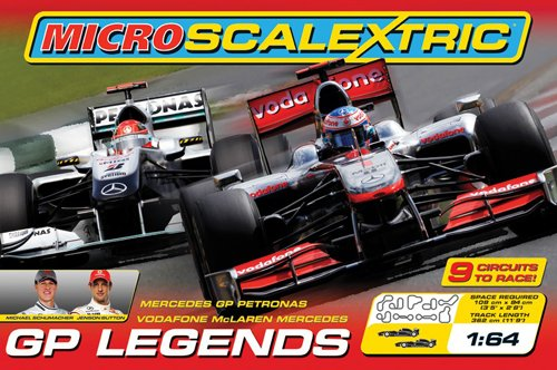 Corgi Micro Scalextric GP Legends 1:64 Scale Race Set