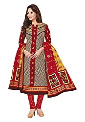 Priyanka Women's Cotton Unstitched Dress Material (Multi-Coloured)