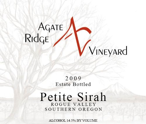 2009 Agate Ridge Petite Sirah Rogue Valley 750 Ml