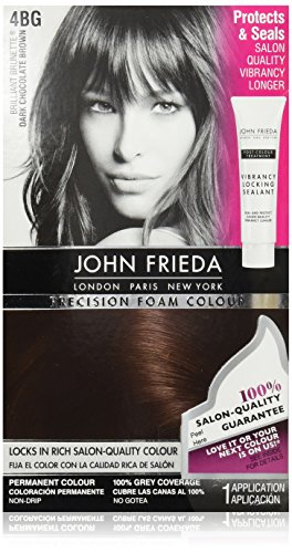 John Frieda Precision Foam Colour, Dark Chocolate Brown 4BG (Chocolate Color Hair Dye compare prices)