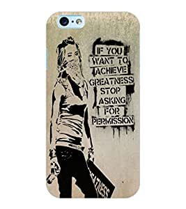 ColourCraft Image with Quote Design Back Case Cover for APPLE IPHONE 6