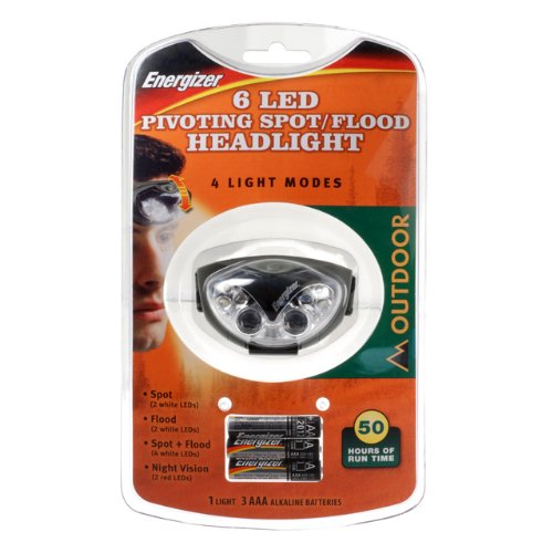 Energizer Headlight Light Output: 80 Lumens Led 3 Aaa White