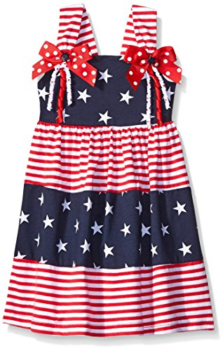 Good Lad Toddler Girls Americana Knit Sundress, Navy, 2T