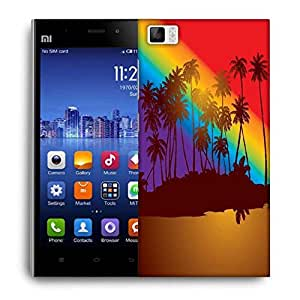 Snoogg Tropical Sunset Designer Protective Back Case Cover For Xiaomi Mi 3