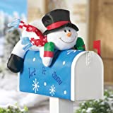 Collections Etc - Stuffable Snowman Holiday Mailbox Cover Decoration