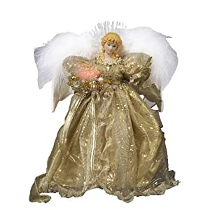 #!Cheap Kurt Adler 12-Inch Fiber Optic Gold Angel Tree Topper