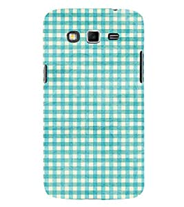 Blue check pattern 3D Hard Polycarbonate Designer Back Case Cover for Samsung Galaxy Grand 2 G7102 :: Samsung Galaxy Grand 2 G7106