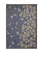 Tapis a Porter Alfombra Modern Azul 80 x 150 cm