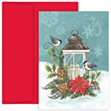 Birds With Candle Holiday Cards
