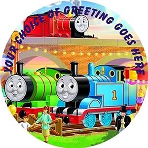 "Thomas The Tank Engine P887 7.5"" Circular Edible Cake ..."