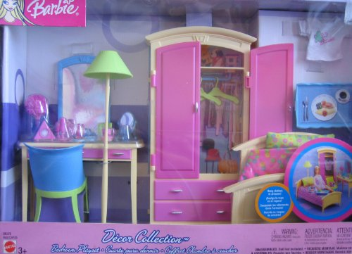 barbie decor collection bedroom playset multi lingual