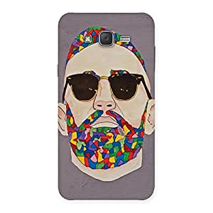 Ajay Enterprises Art Face Back Case Cover for Galaxy J7