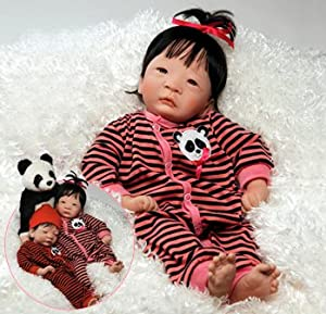 Amazon.com: Paradise Galleries Asian Baby Doll, Panda Twin Girl, 17