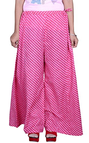 Pezzava Beautiful Cotton Printed Pink Plazoo