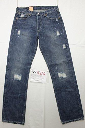 Levi's 501 con rotture boyfriend jeans Tg.47 W33 L34 Uomo nuovo