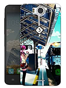 "Train Platform Life Printed Designer Mobile Back Cover For ""Google Infocus M530"" By Humor Gang (3D, Matte Finish, Premium Quality, Protective Snap On Slim Hard Phone Case, Multi Color)"
