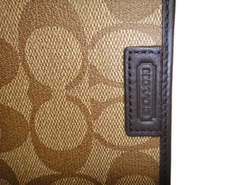 Coach   Coach Heritage Signature Passport Case Cover F68667 New Model (Khaki/Brown)