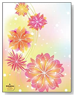 Pink Spring Flowers Notebook - Beautiful pink and yellow flowers against a colorful pastel background provide a sparkling Spring-like feel to the cover of this wide ruled notebook.