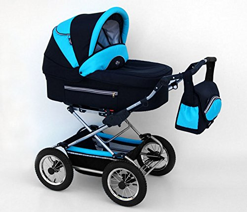 kinderwagen kombikinderwagen 3in1 buggy pram babyschale fanari neu black turkus bastian smith. Black Bedroom Furniture Sets. Home Design Ideas