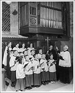 Church Choir Singing by Mary Evans