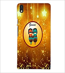 PrintDhaba Zodiac Gemini D-3720 Back Case Cover for HUAWEI ASCEND P6 (Multi-Coloured)