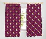 West Ham United Tape Top Curtains, Claret, 66 x 72-Inch