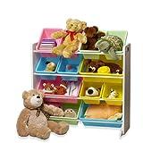 [おかたづけ上手] おもちゃ箱4段 パステル 「大好きおもちゃを楽しくおかたづけ」