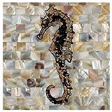 Thirstystone 4-Piece Pearlized Seahorse Coaster Set