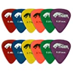 Tiger Music Matte Guitar Plectrums Pi...
