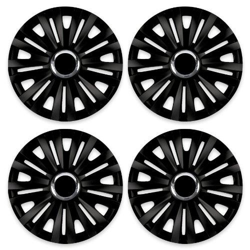 Radkappen ROYAL schwarz 15 Zoll passend für Fiat 500, Bravo, Brava, Doblo, Grande Punto, Evo, Idea, Linea