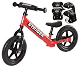 *Strider ST-4 Balance Bike with Elbow Pads & Knee Pads* (Red)