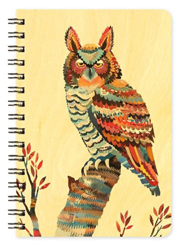Owl Wooden Pocket Notepad by Dolan Geiman and Night Owl Paper Goods