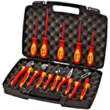 Knipex 989830US 10 -Piece 1000V Insulated Pliers, Cutters, and Screwdriver Industrial Tool Set (Tamaño: set)