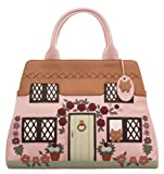 CICCIA COUNTRY COTTAGE PINK LEATHER GRAB BAG OR SHOULDER BAG - EMBELLISHED WITH SWAROVSKI ELEMENTS