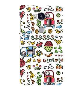 Modern Design Pattern Strawberry jeep 3D Hard Polycarbonate Designer Back Case Cover for Huawei Honor 5X :: Huawei Honor X5 :: Huawei Honor GR5