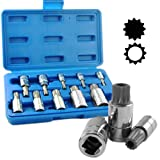 Neiko 10-Piece XZN Triple Square Spline Bit Socket Set, Quality S2 XZN Bits