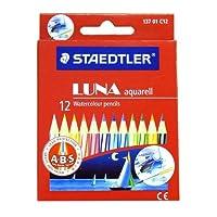 ステッドラー 水彩色鉛筆 ルナ 12色セット ショートタイプ 137 01C12