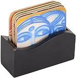 Emami Chisel Art Cork Coaster, Set of 6, KA-1
