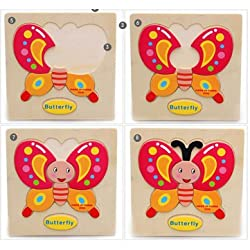 Baby Kid Children Lovely Animal Fruit Vehicle Wooden Early Learning Educational Puzzle Toy -