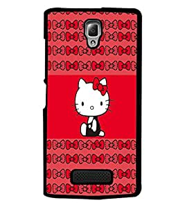 PrintDhaba Kitty D-4544 Back Case Cover for LENOVO A2010 (Multi-Coloured)