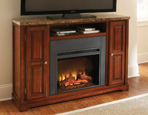 Steve Silver Montibello Electric Fireplace/Tv Media Console Mn560Set