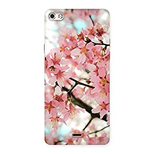 Delighted Cherry Blossoms Multicolor Back Case Cover for Micromax Canvas Silver 5
