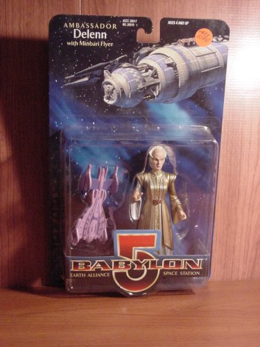 Babylon 5 Ambassador Delenn (Bone Head)6in Figure w/ Minbari Flyer