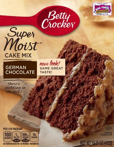 Betty Crocker Super Moist Cake Mix, German Chocolate, 15.25 oz Box (Pack of 6) (German Baking Products compare prices)