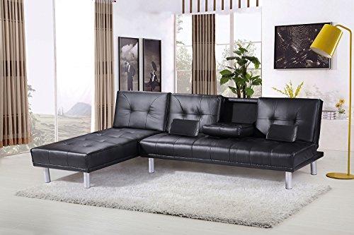 Sleep design manhattan   divano letto angolare con chaise longue ...