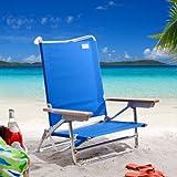 Rio Brands Rio SC590C Deluxe Sand Beach Chair, Blue, Aluminum