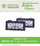 2 Neato Pet & Allergy Filters Designed To Fit Neato XV-11, XV-12, XV-15, XV-21 Robotic Floor Vacuums; Compare to Neato Pet & Allergy Filters; Designed & Engineered By Crucial Vacuum