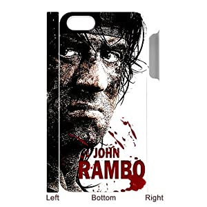 Vintage First Blood John Rambo Sylvester Stallone Cool Design Snap on Hard One Piece Phone Accessory Case Cover for iPhone 5 (3D)