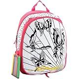 Ed Hardy Caroline Interchangable Coloring Panels Backpack- Hot Pink