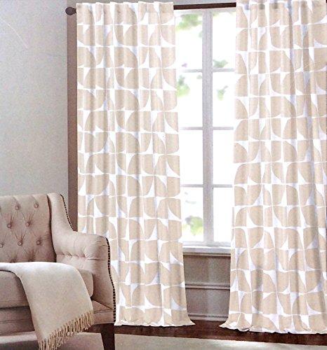 max studio home geometric tiles window panels 52 by 96